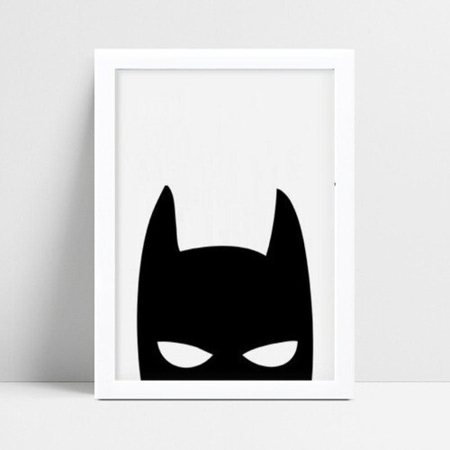 Quadro Poster Infantil máscara super herói Batman