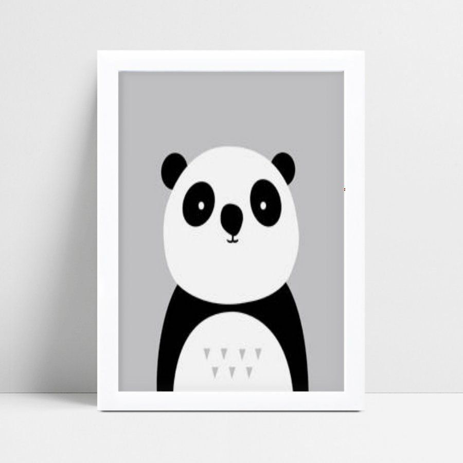Quadro Poster Infantil panda