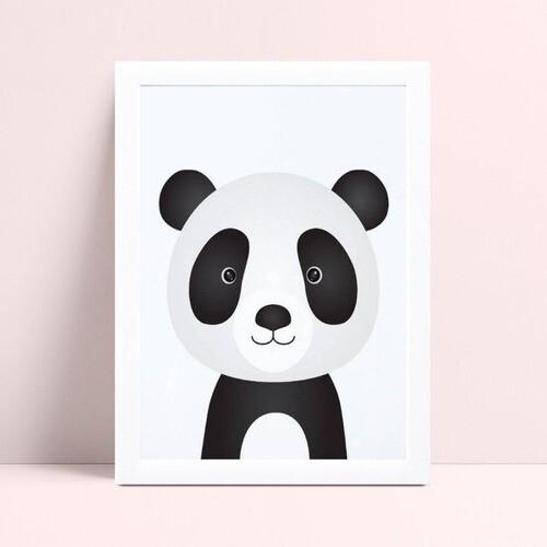 Quadro Poster Infantil panda animal