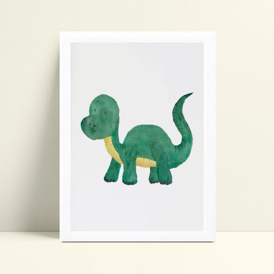 Quadro quadro decoração bebê dinossauro verde