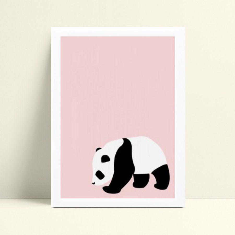 Quadro quadro decoração bebê menina panda