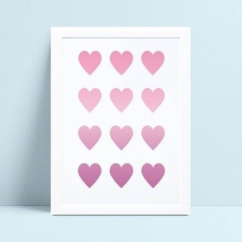 Quadro quadro decoração corações