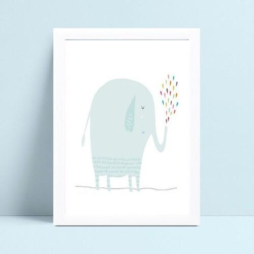 Quadro quadro decoração desenho elefante