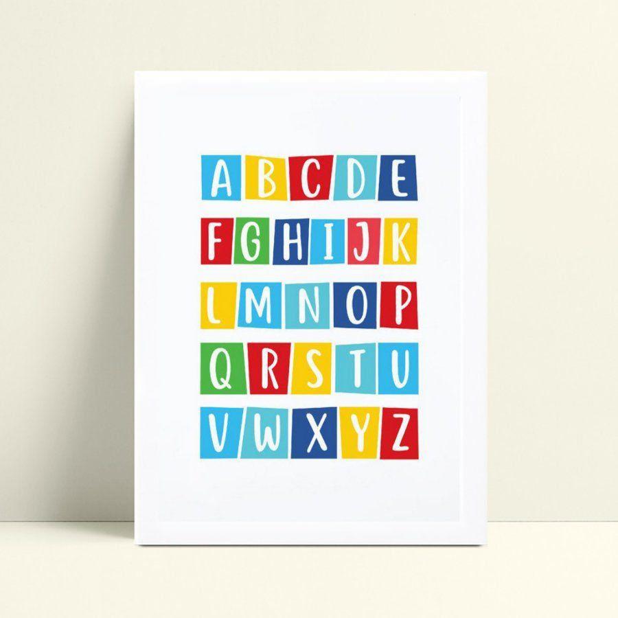 Quadro Quadro Decoração Infantil abc alfabeto colorido