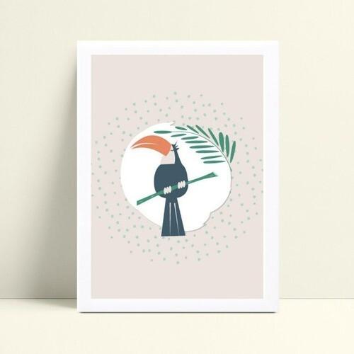 Quadro Quadro Decoração Infantil ave tucano