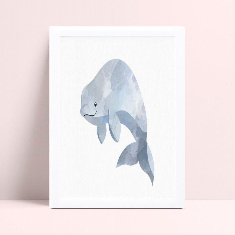 Quadro Quadro Decoração Infantil baleia oceano