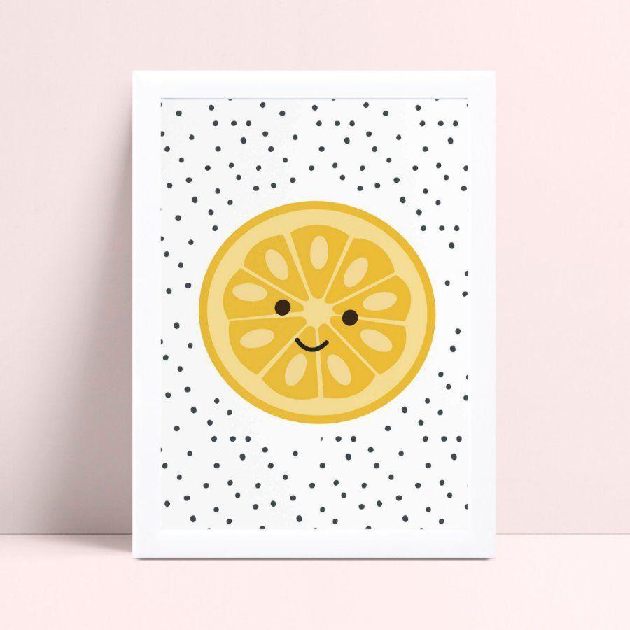 Quadro Quadro Decoração Infantil Bebe cozinha fruta laranja