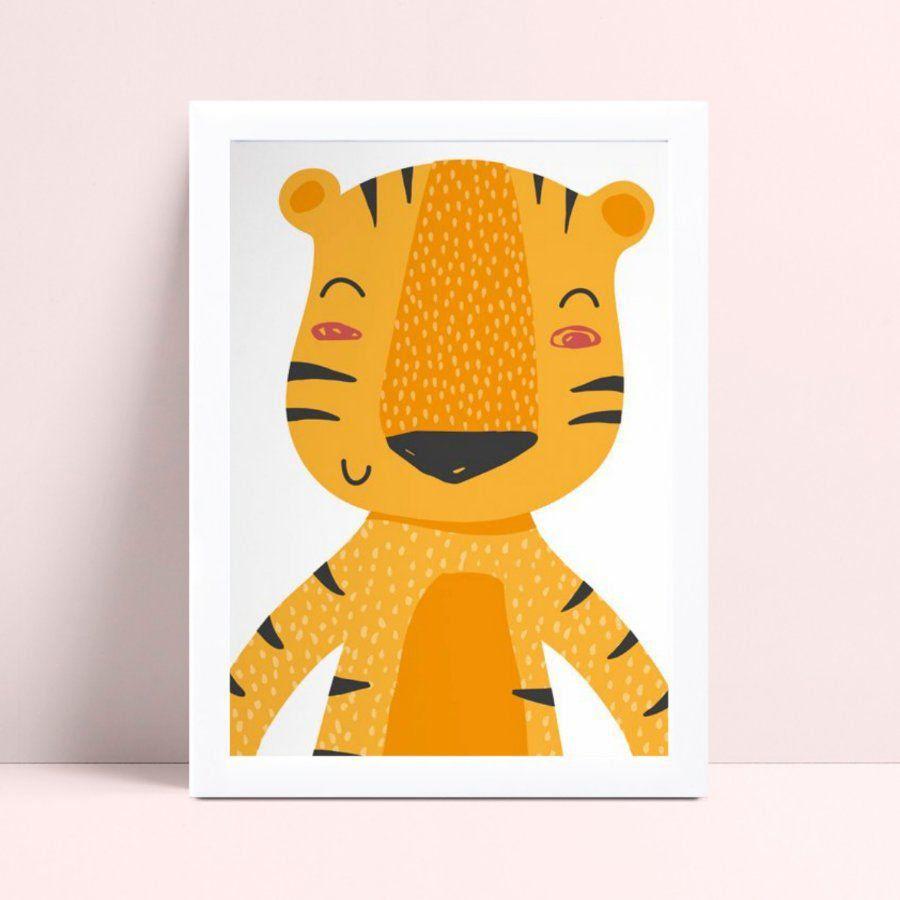 Quadro Quadro Decoração Infantil Bebê tigre safári