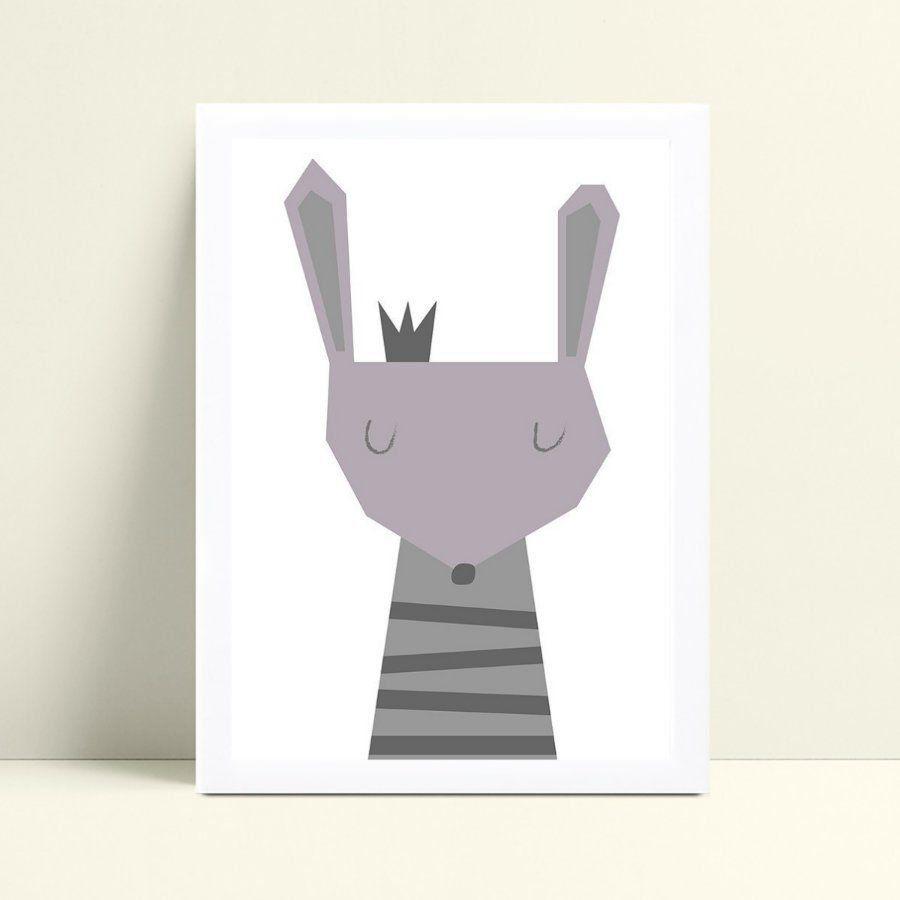 Quadro Quadro Decoração Infantil coelho coroa príncipe