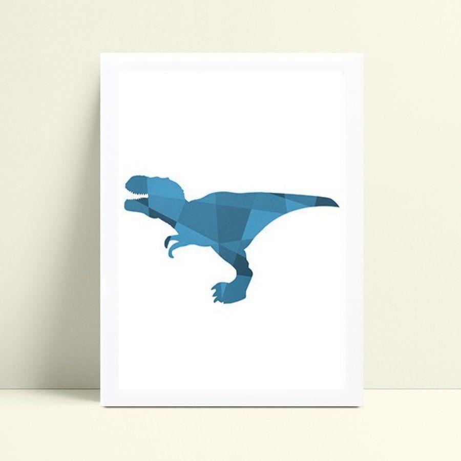 Quadro Quadro Decoração Infantil dinossauro geométrico
