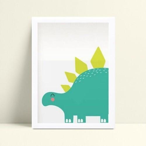 Quadro Quadro Decoração Infantil dinossauro verde