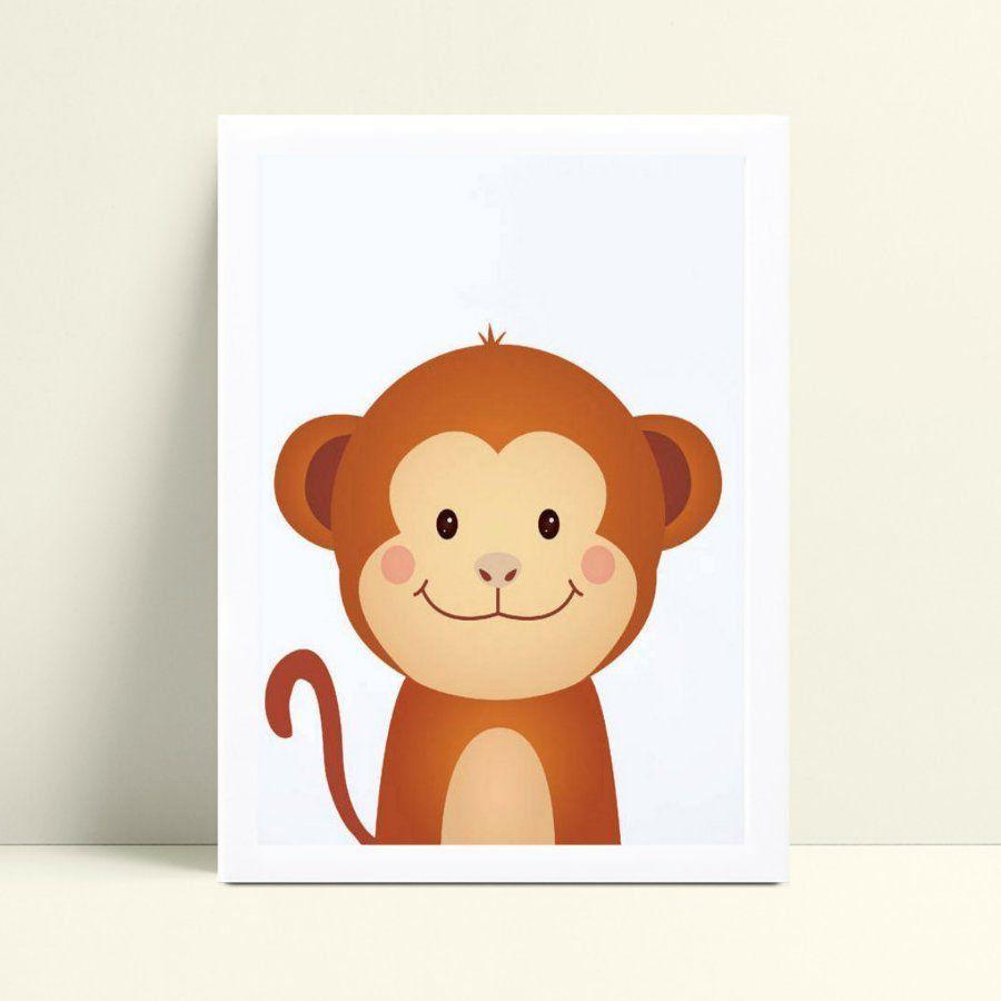 Quadro Quadro Decoração Infantil macaco