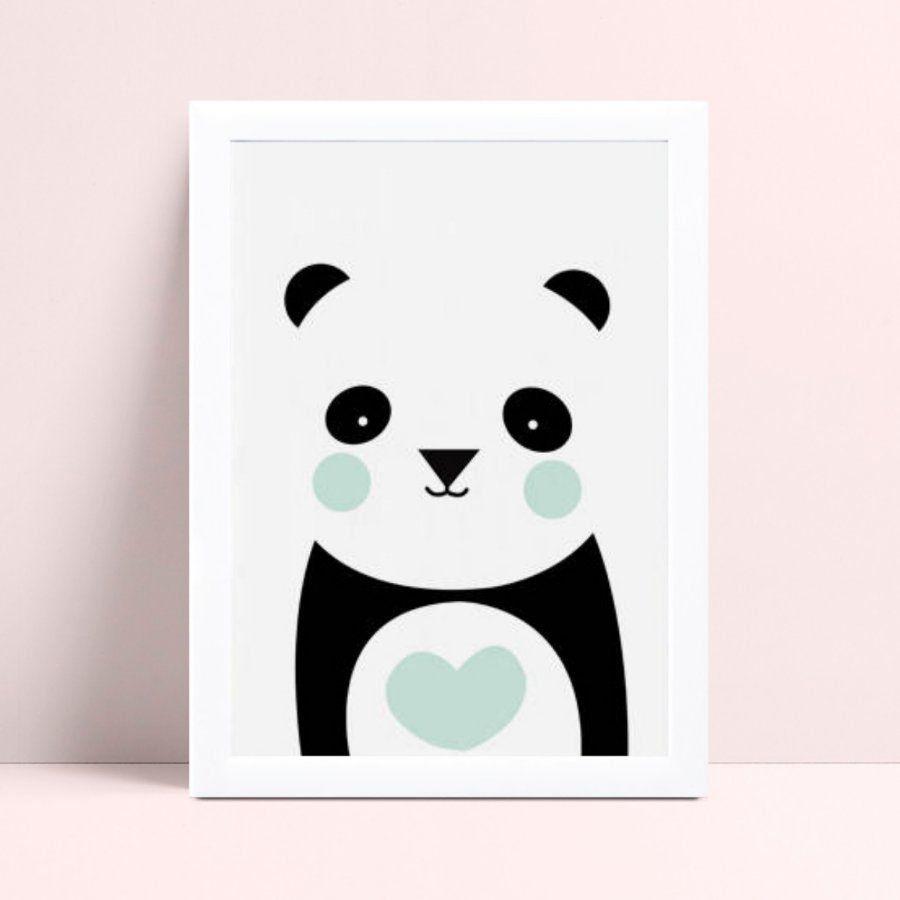 Quadro Quadro Decoração Infantil menino panda