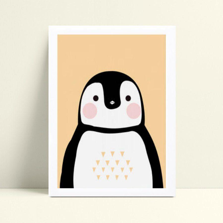 Quadro Quadro Decoração Infantil pinguim animal