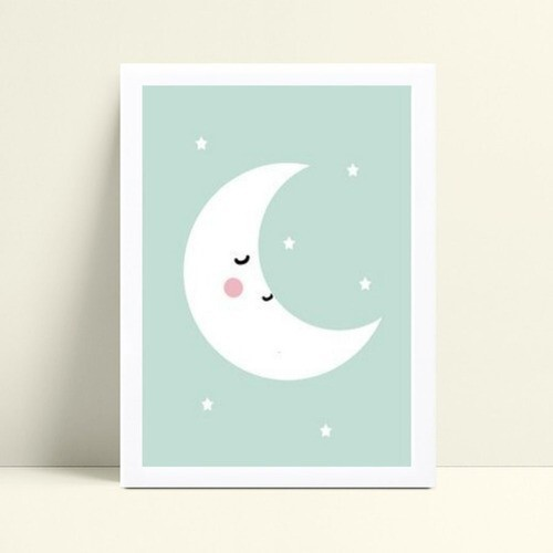 Quadro quadro decoração meia lua