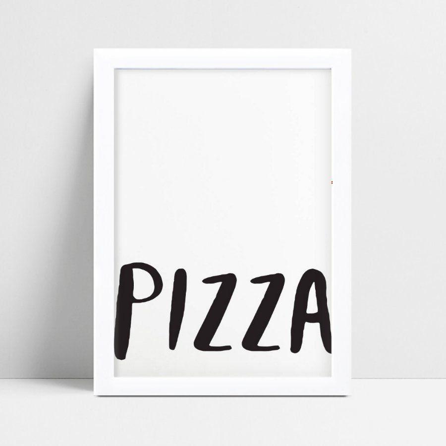 Quadro quadro decoração palavra pizza