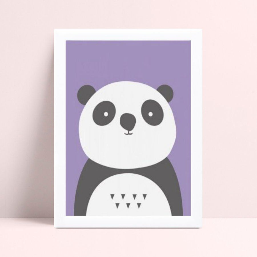 Quadro quadro decoração panda animal