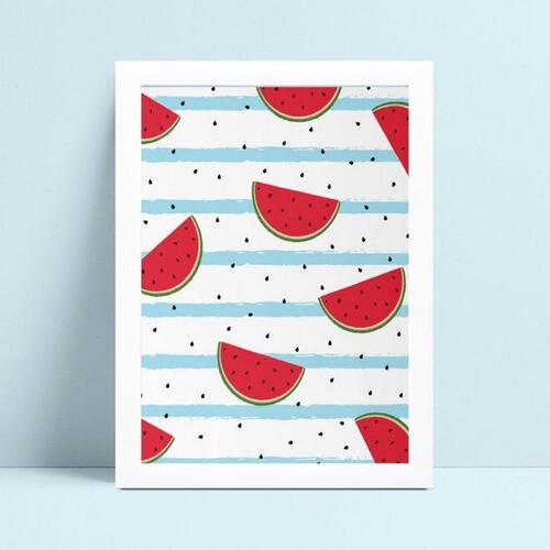 Quadro quadro decoração pedaços de melancia