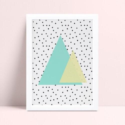 Quadro quadro decoração triângulos coloridos