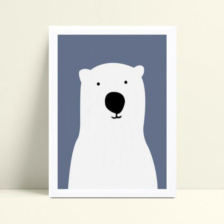 Quadro quadro decoração urso branco