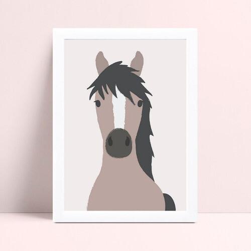 quadro quadro infantil animal cavalo