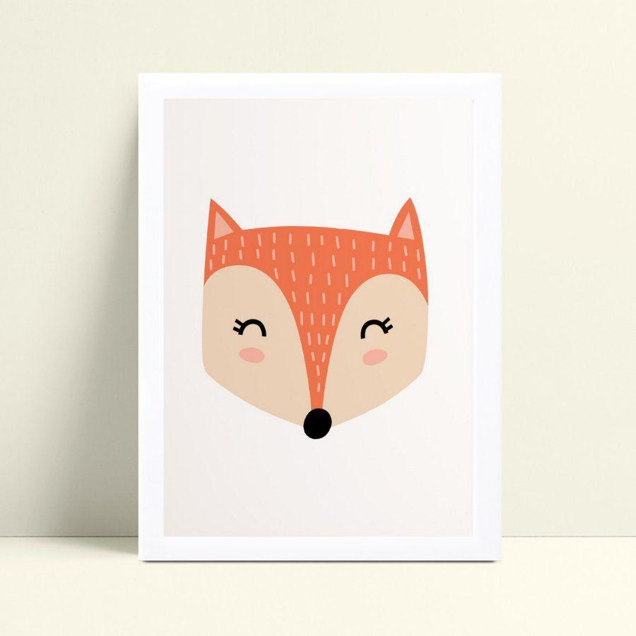 quadro quadro infantil animal raposa