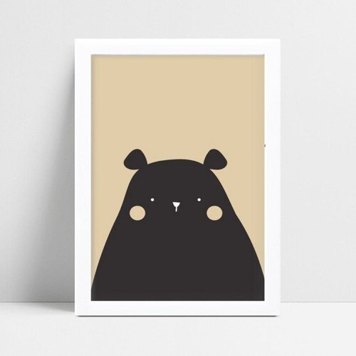 quadro quadro infantil animal urso