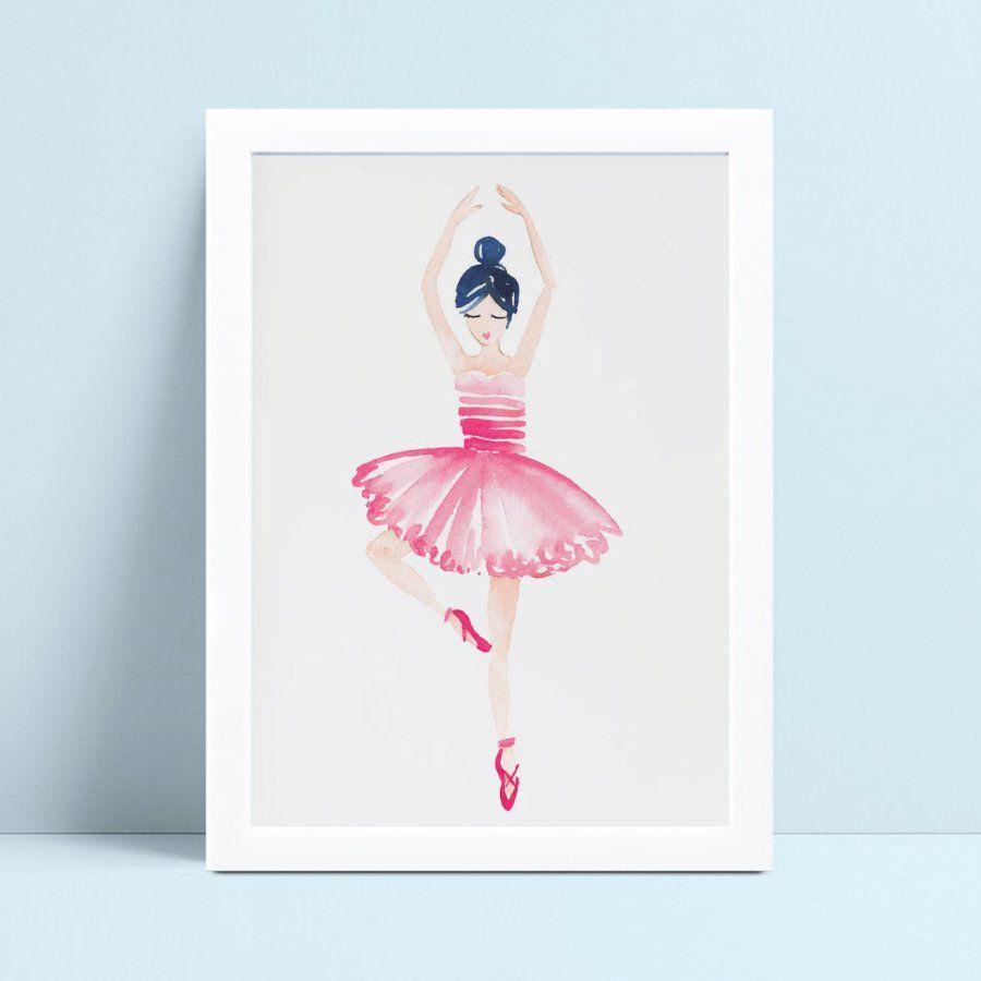 quadro quadro infantil bailarina dançando