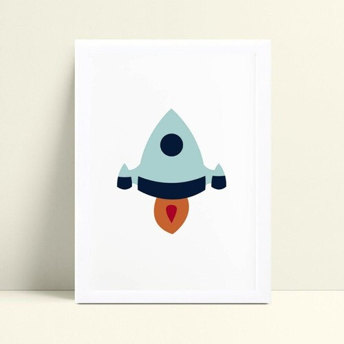 quadro quadro infantil bebê foguete