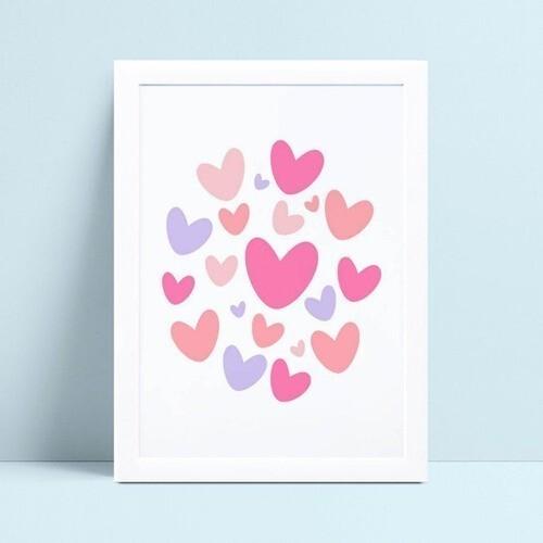quadro quadro infantil corações
