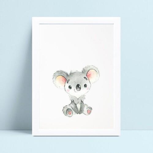 quadro quadro infantil desenho coala