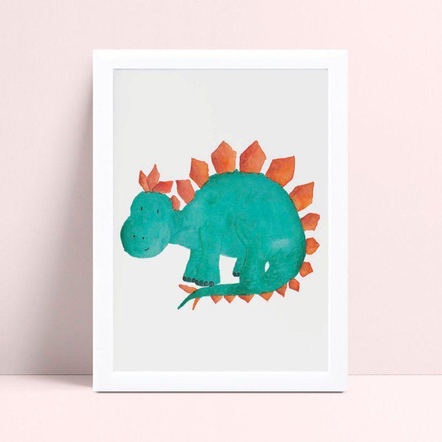quadro quadro infantil desenho dinossauro verde