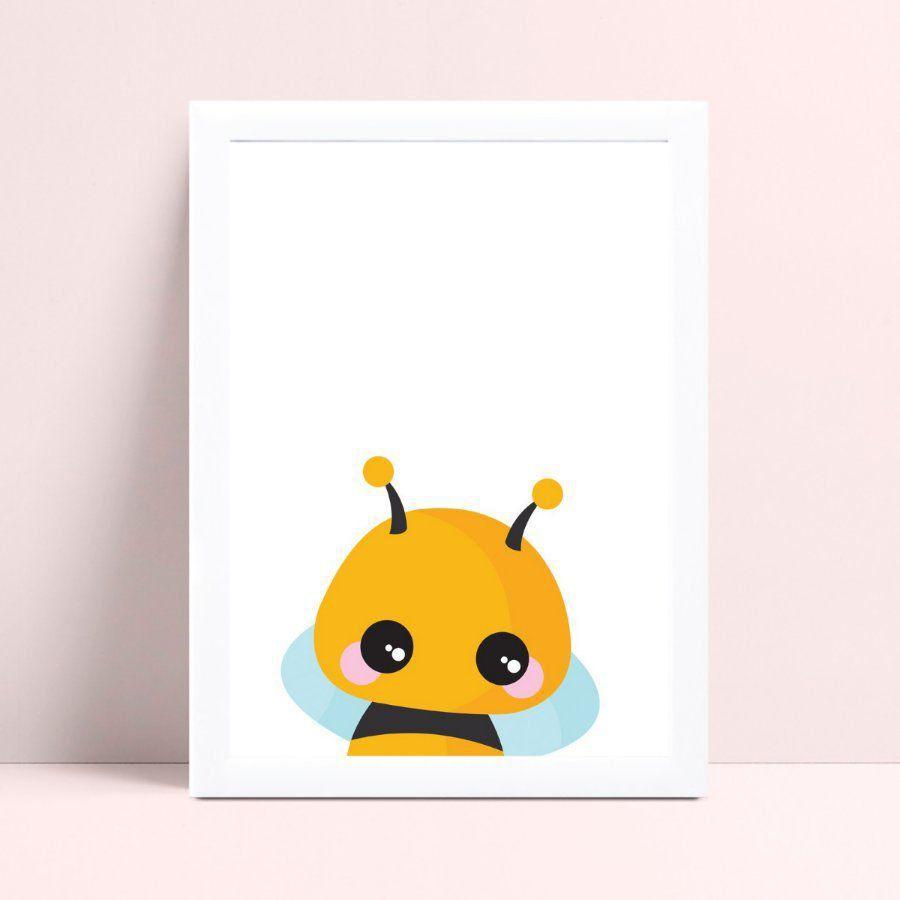 Quadro Quadro Infantil Menina Menino abelha