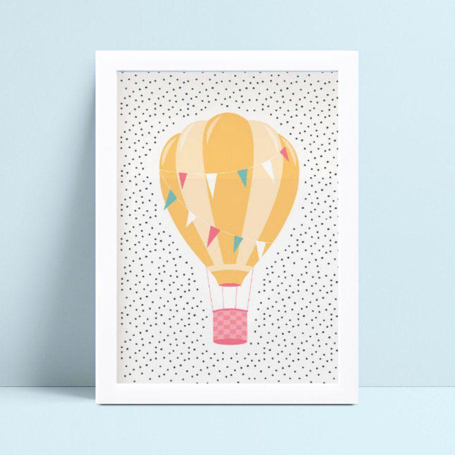 Quadro Quadro Infantil Menina Menino balão colorido