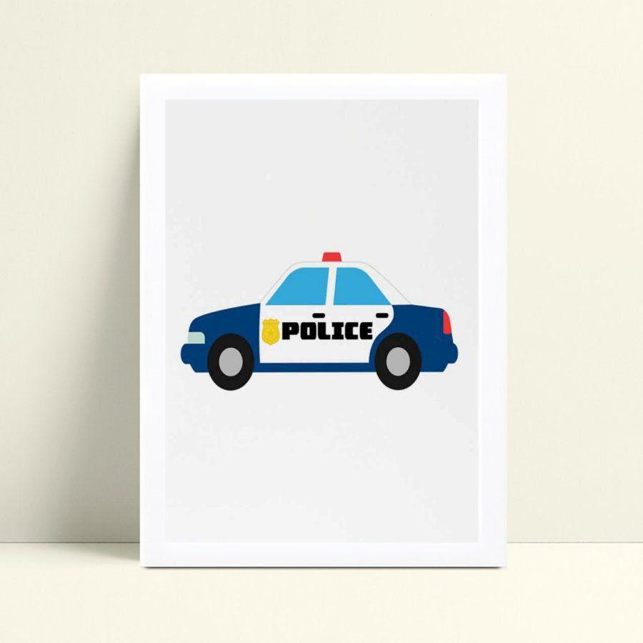 Quadro Quadro Infantil Menina Menino carro polícia