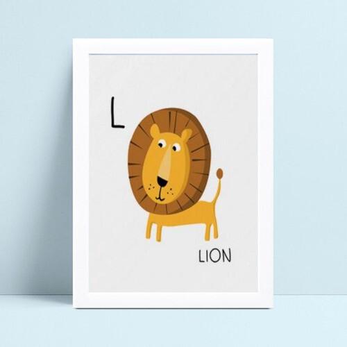 Quadro Quadro Infantil Menina Menino leão desenho