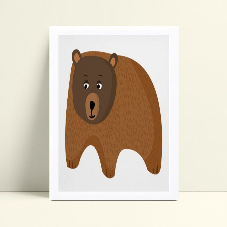 Quadro Quadro Infantil Menina Menino urso marrom