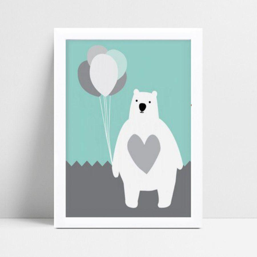 Quadro Quadro Infantil Menina Menino urso polar