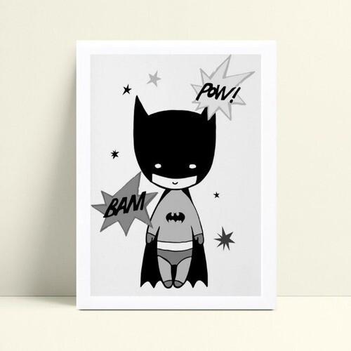 Quadro Quadro Infantil Menino fantasia de Batman