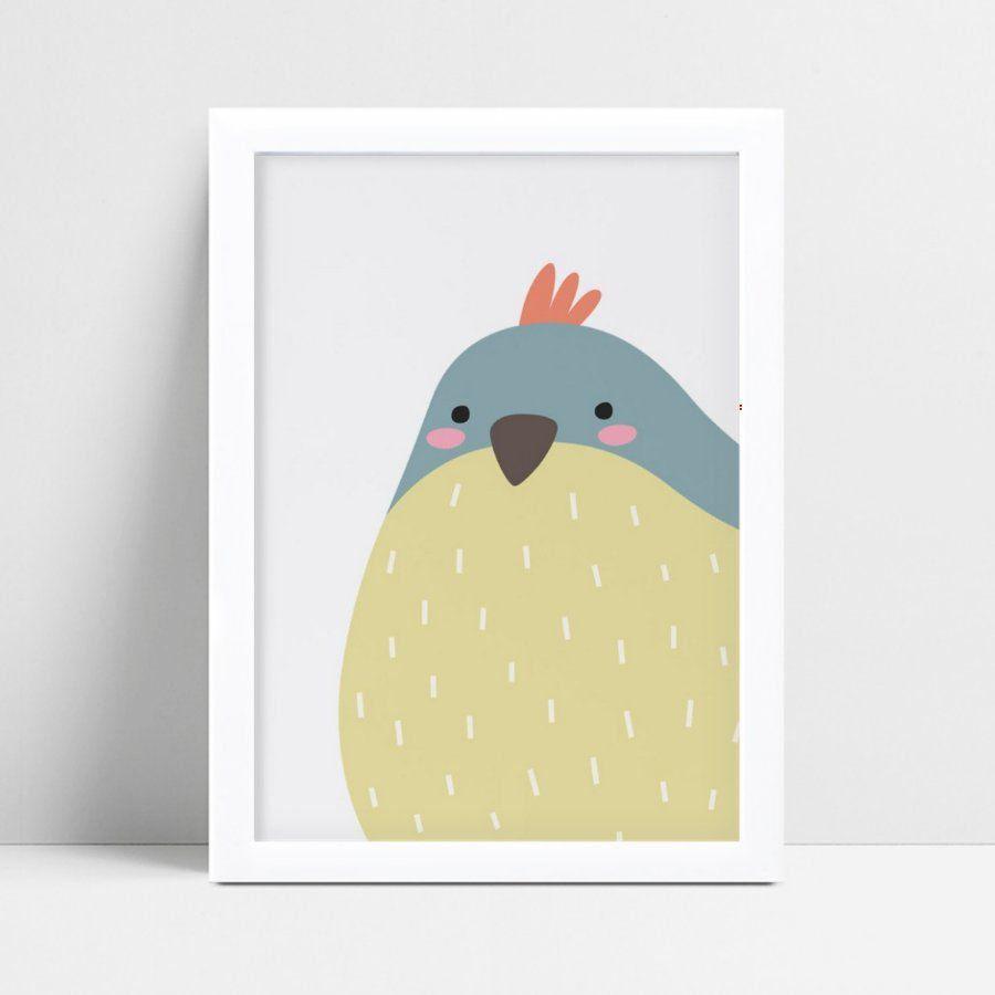 quadro quadro infantil pássaro