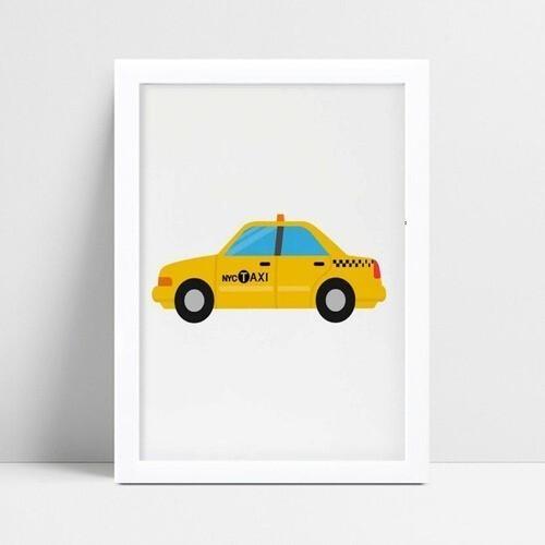 Quadros Decoraçãos Em Mdf carro táxi
