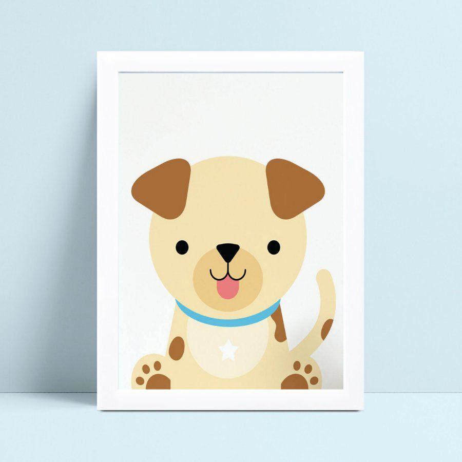 Quadros Decoraçãos Em Mdf desenho animal cachorro filhote