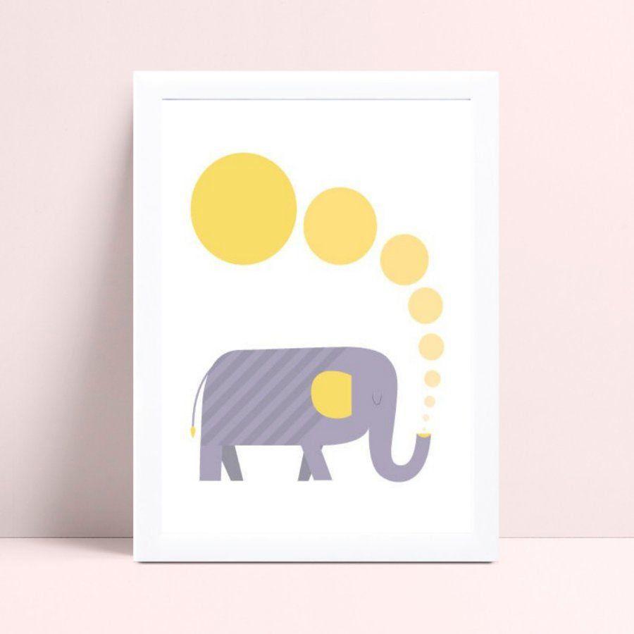 Quadros Decoraçãos Em Mdf desenho elefante