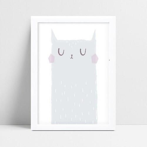 Quadros Decoraçãos Em Mdf desenho gato cinza