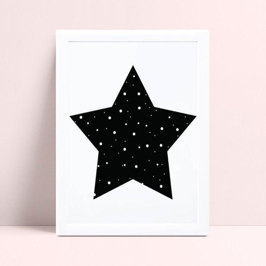 Quadros Decoraçãos Em Mdf estrela p&b