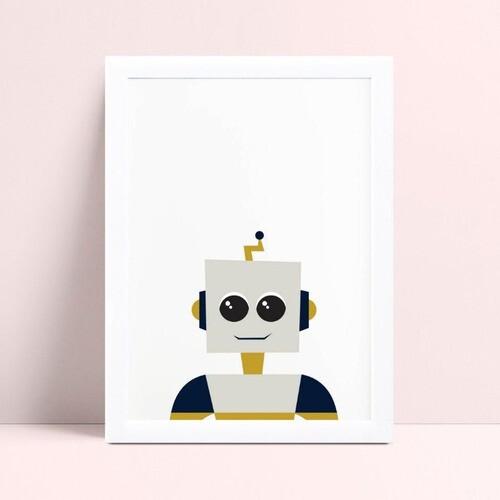 Quadros Decoraçãos Em Mdf infantil robô