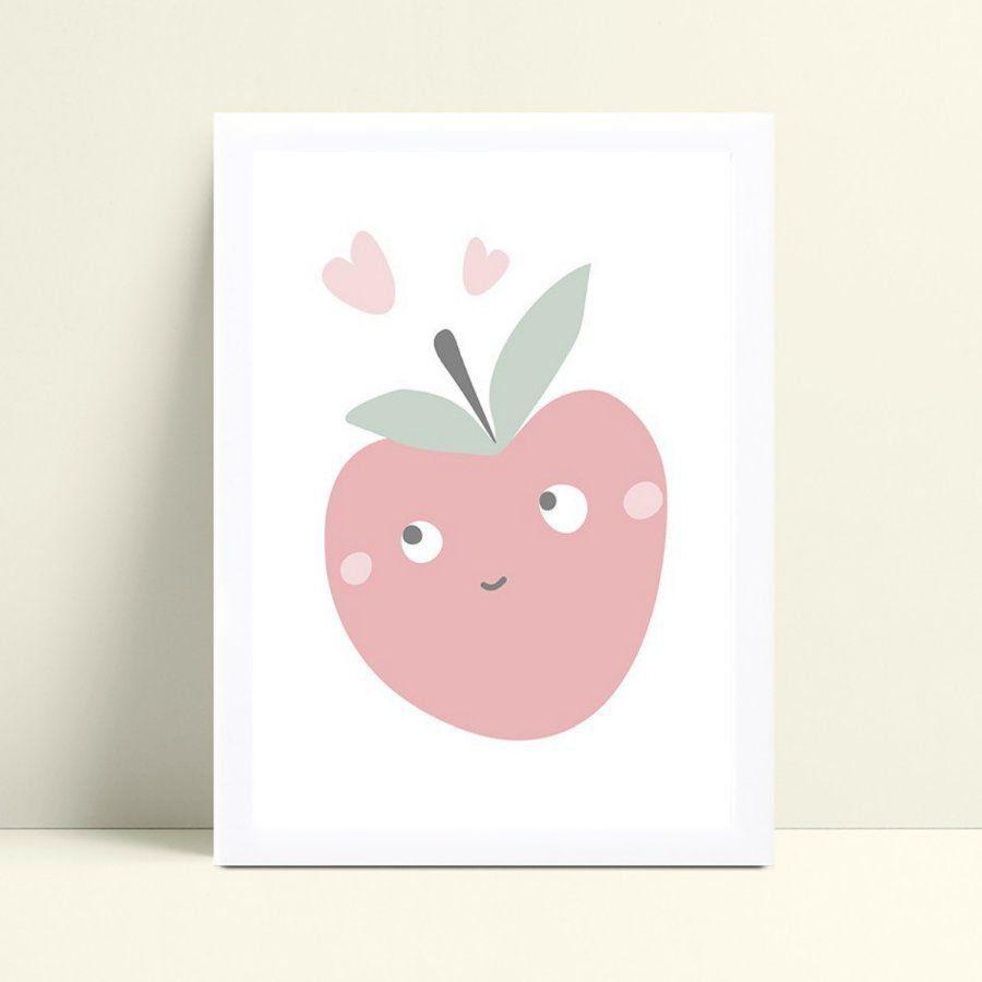 Quadros Decoraçãos Em Mdf maçã rosa