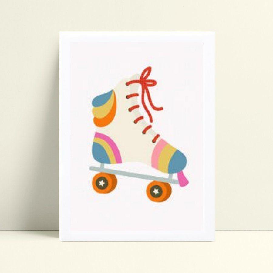 Quadros Decoraçãos Em Mdf patins colorido