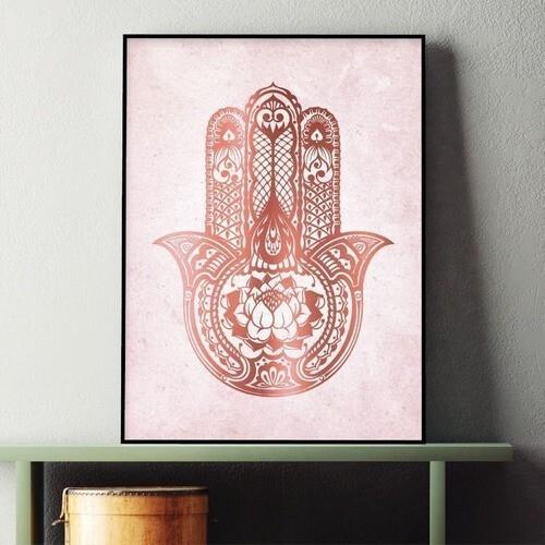 Quadros decorativo rosa meditação yoga zen