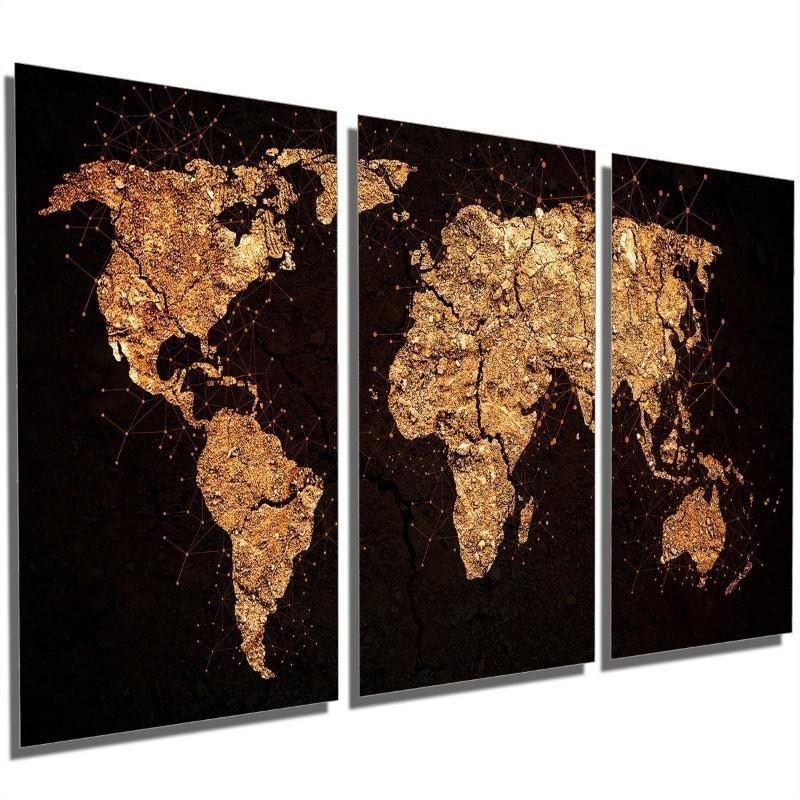 Quadros Decorativos Sala Quarto Mapa Mundi Terra